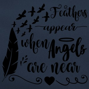 Feathers appear when angels are near Sweat-shirts - Sac Retro