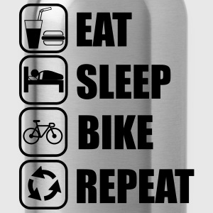 Rat,sleep,bike,repeat, Fahrrad t-shirt  - Trinkflasche