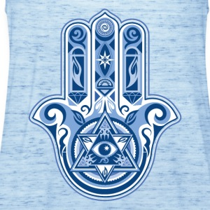 Hamsa Hand Of Fatima, symbol, eye, triangle T-shirts - Dame tanktop fra Bella
