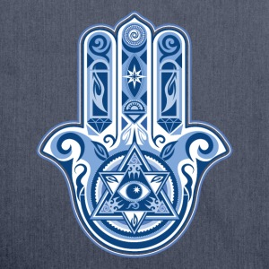 Hamsa Hand Of Fatima, symbol, eye, triangle T-shirts - Skuldertaske af recycling-material