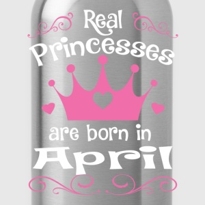 April - Princess - Birthday - 1 T-shirts - Vattenflaska
