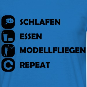 eat sleep modellfliegen repeat Pullover & Hoodies - Männer T-Shirt