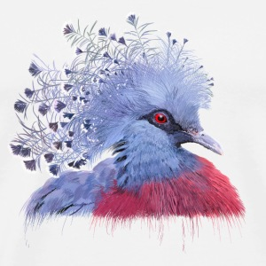 crowned pigeon Topper - Premium T-skjorte for menn