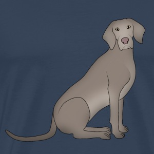 Weimaraners sitting Long Sleeve Shirts - Men's Premium T-Shirt