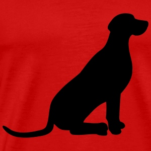 Weimaraner vector Tops - Men's Premium T-Shirt