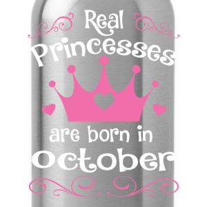 October - Princess - Birthday - 1 T-Shirts - Water Bottle