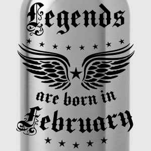 Legends are born in February Geburtstag T-Shirt - Trinkflasche