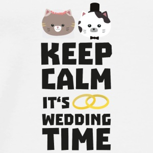 wedding time keep calm Sitj0 Sacs et sacs à dos - T-shirt Premium Homme