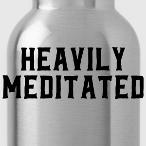 Heavily Meditated T-Shirts - Water Bottle