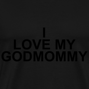 I love my godmommy Babybody - Premium T-skjorte for menn