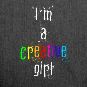 FrauenTanktop I´m a creative girl - Schultertasche aus Recycling-Material