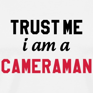 Cameraman / Camera / cameravrouw / video Kookschorten - Mannen Premium T-shirt