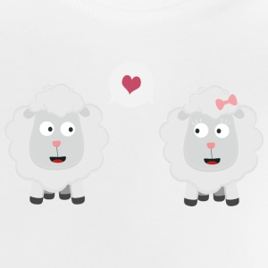 Sheep in love with heart S7b4v Shirts - Baby T-Shirt