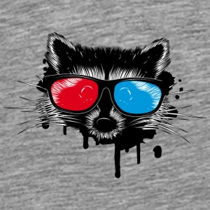 Raccoon with 3D glasses Caps & Hats - Men's Premium T-Shirt