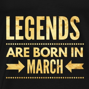 Legends are born in march verjaardag shirt maart Baby body - Mannen Premium T-shirt