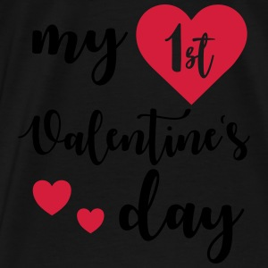 My 1st Valentines Day Baby Bodysuits - Men's Premium T-Shirt