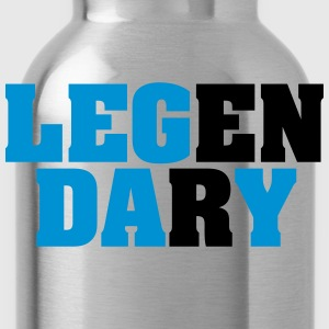 Legendary | Leg Day | Funny Gym Shirt T-shirts - Vattenflaska