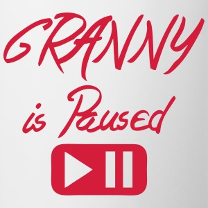 Granny is paused button quote T-Shirts - Mug