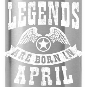 Legend Are Born in April  T-Shirts - Trinkflasche