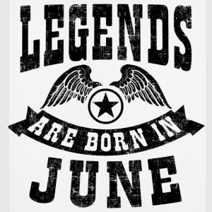 Legend Are Born in June T-Shirts - Mousepad (Hochformat)