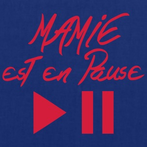 mamie est en pause citation bouton Tabliers - Tote Bag