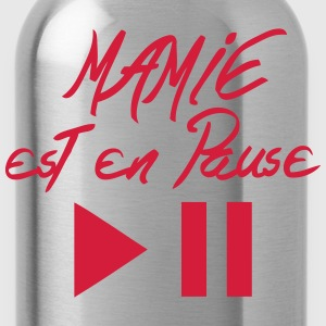 mamie est en pause citation bouton Tabliers - Gourde