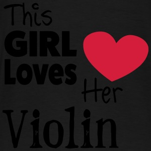 This Girl Loves Her Violin Sweatshirts - Herre premium T-shirt