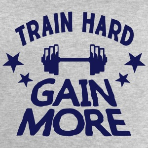 train hard gain more Bodybuilding-Zitat T-Shirts - Männer Sweatshirt von Stanley & Stella