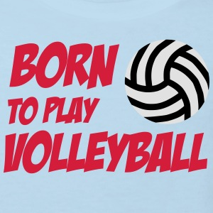 Born to play Volleyball Babybody - Organic børne shirt