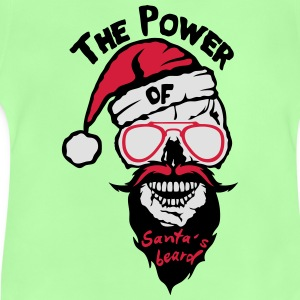 Skull power Santa beard quote Shirts - Baby T-Shirt