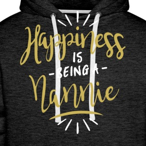 Happy Nannie Shirt - Men's Premium Hoodie