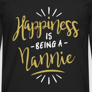 Happy Nannie Shirt - Men's Premium Longsleeve Shirt