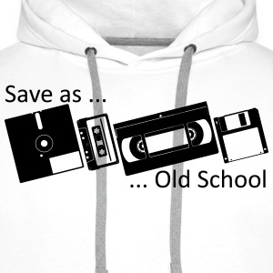Save as ... Old School T-shirts - Mannen Premium hoodie