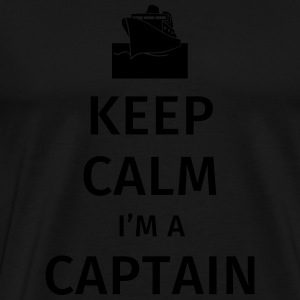 Keep Calm I'm a Captain Sweaters - Mannen Premium T-shirt