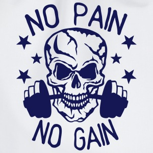 No pain gain quote bodybuilding muscle building Hoodies & Sweatshirts - Drawstring Bag