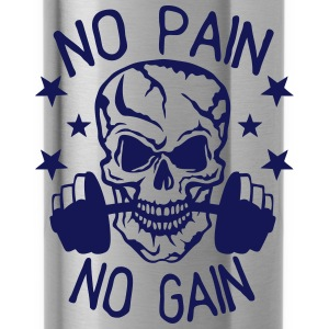 No pain gain quote bodybuilding muscle building Hoodies & Sweatshirts - Water Bottle