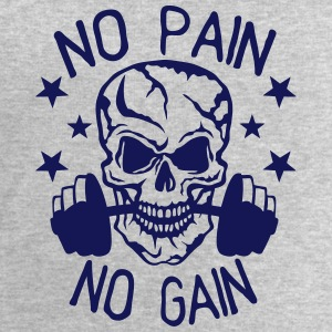 No pain gain quote bodybuilding muscle building Tops - Men's Sweatshirt by Stanley & Stella
