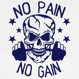 No pain gain quote bodybuilding muscle building Tops - Baseball Cap