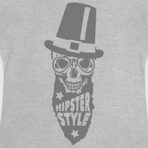 Schädel hipster style Zitat Hut T-Shirts - Baby T-Shirt