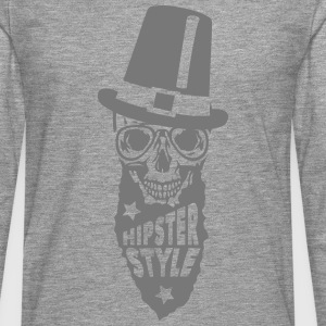 Skull hipster style quote hat Shirts - Men's Premium Longsleeve Shirt