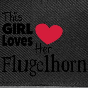 This Girl Loves Her Flugelhorn - Snapback-caps
