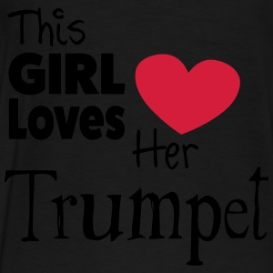 This Girl Loves Her Trumpet Tröjor - Premium-T-shirt herr