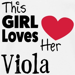 This Girl Loves Her Viola Topper - Premium T-skjorte for menn