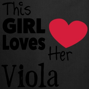This Girl Loves Her Viola Bluzy - Fartuch kuchenny