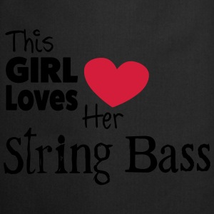 This Girl Loves String Bass Topy - Fartuch kuchenny