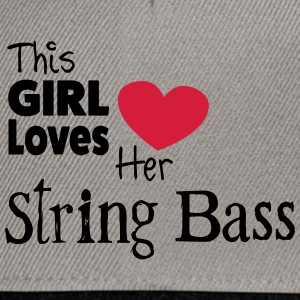 This Girl Loves String Bass Tops - Snapback Cap