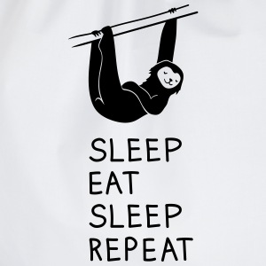 Faultier Sleep Eat Sleep T-Shirts - Turnbeutel