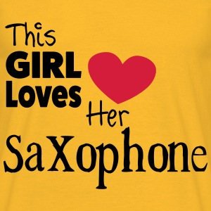 This Girl Loves Her Saxophone Tops - Camiseta hombre