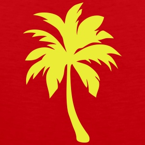 palm tree 2025 Shirts - Men's Premium Tank Top