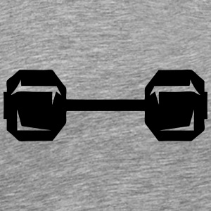 Dumbbell weight lifting bodybuilding 2 Sports wear - Men's Premium T-Shirt